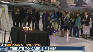Fans hold Carrie Fisher vigil at Wings Over the Rockies Air & Space Museum in Denver - Video