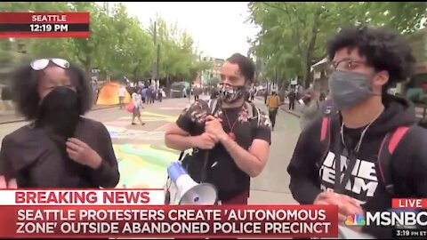 Thugs shout down MSNBC reporter for calling CHAZ a 'street festival'