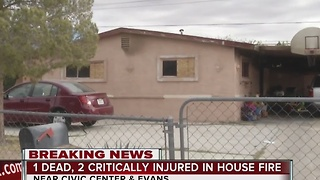 UPDATE: 1 dead, 2 people critical after North Las Vegas house fire