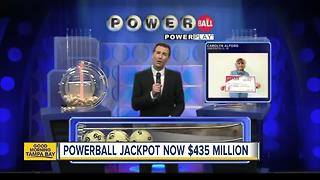 Powerball jackpot jumps to $435 million - Video