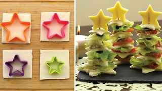 Tree-shaped sandwich: Easy recipe
