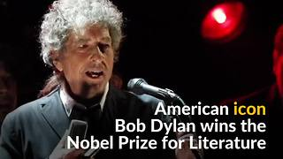 'Greatest living poet' Bob Dylan wins Nobel literature prize - Video