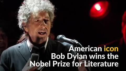 'Greatest living poet' Bob Dylan wins Nobel literature prize