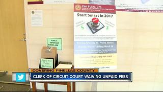 Pinellas Co. Clerk of Circuit Court waiving unpaid fees - Video