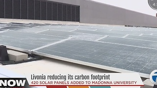 Solar panels added to Madonna University - Video