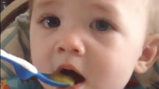 Baby tastes mango for the first time, Will he like it? Watch to find out!  - Video