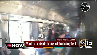 With Arizona heat rising, what it's like for outside workers - Video