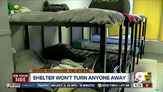 Covington emergency shelter extends hours due to cold weather - Video