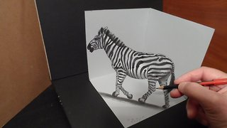 How to draw a 3D zebra - Video