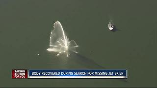 Dive teams recover body during search for missing jet skier - Video