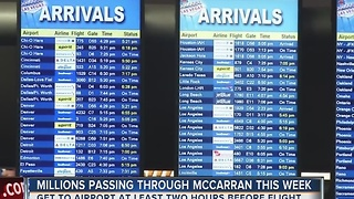 Las Vegas is one of the top destinations for holiday travel - Video