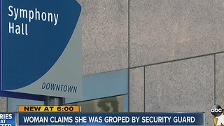 Woman sues security company, claims security guard groped her during concert - Video