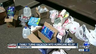 Thornton family turns vacation into Hurricane Florence relief mission