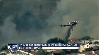 10-acre fire briefly forces 200 people to evacuate - Video
