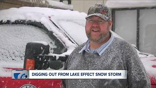 Digging out after lake effect storm dumps snow across WNY - Video