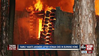Polk woman dies in fire, family claims more could have been done to save her
