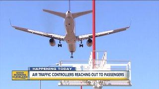 Shutdown Day 25: Air traffic controllers reaching out to passengers