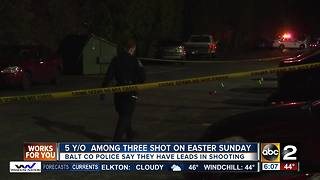 5-year-old among 3 injured in Easter Sunday shooting - Video