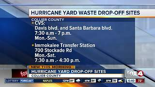 New hurricane yard waste drop-off locations - Video