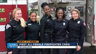All-women Milwaukee fire crew makes history on their shift