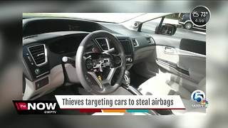 Thieves targeting cars to steal airbags - Video
