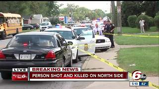 Man found fatally shot in vehicle on Indy's north side - Video