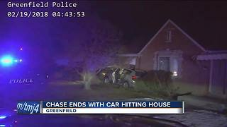 5 teens arrested after stolen car chase ends with crash into home on Milwaukee's south side - Video
