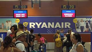 Thousands affected as Ryanair cabin crews go on strike - Video