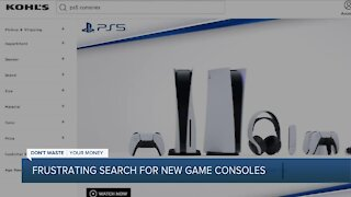 Frustrating search for new game consoles
