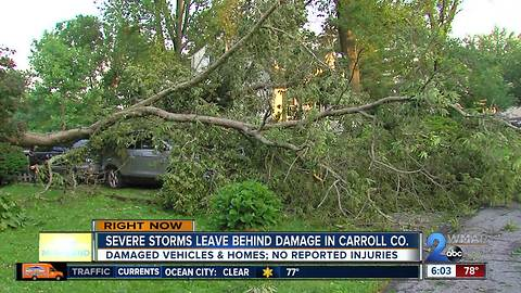 Severe weather leaves a mess in one Sykesville neighborhood