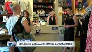 More than 40 businesses on Elmwood are owned by women