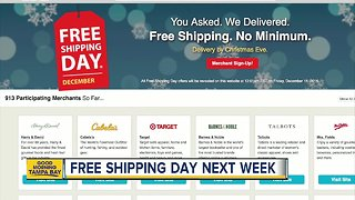 Stores offering free shipping this holiday season