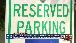 Outrage over handicap parking at local school - Video