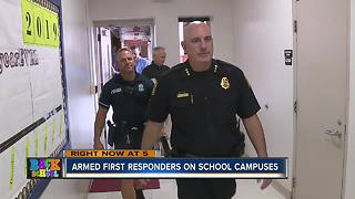 Armed first responders on school campuses - Video