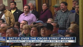 Community concerned over plans for Cross Street Market - Video