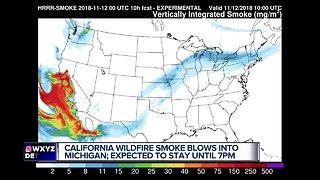 Smoke from California wildfires reaches metro Detroit & Michigan - Video