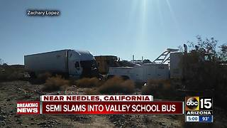 30 Valley high schoolers involved in school bus crash - Video