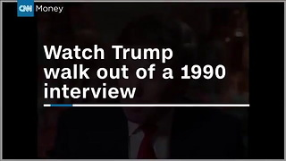CNN Money Interview Walk Out with Charles Feldman and Donald Trump - March 29, 1990 - Video