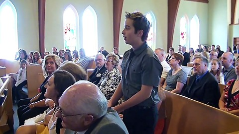 Singing Flash Mob Disrupt Church Wedding Ceremony