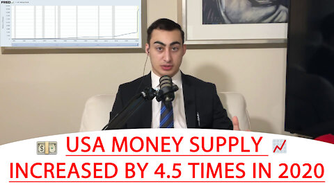 🔴 USA MONEY SUPPLY INCREASED BY 4.5 TIMES IN 2020 💵 📈 | JOEL JAMMAL