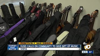 Vista school district calls on community to give gift of music