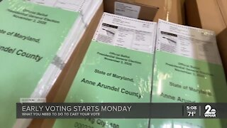 Early voting begins on Monday in Maryland