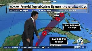 Update on Potential Tropical Cyclone 18 - Video