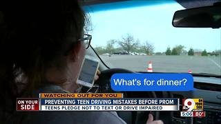 Preventing teen driving mistakes before prom