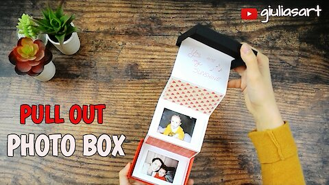 DIY pull-out photo box gift idea
