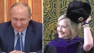 Hillary Clinton still not over election loss, pledges allegiance to Russia.