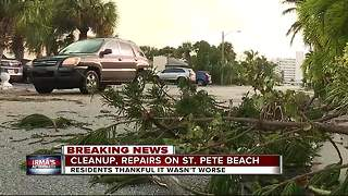 Cleanup, repairs on St. Pete Beach - Video