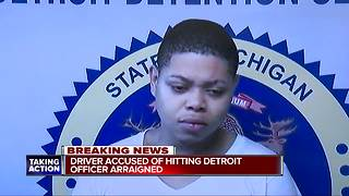 19-year-old who injured Detroit police officer in hit-and-run arraigned - Video