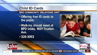 Free Child I.D. Cards in Bakersfield - Video