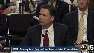 Sen. John McCain questions James Comey during Senate Intel Committee - Video